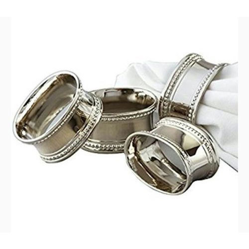 Silver Stainless Steel Napkin Ring