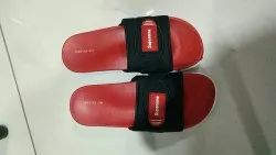 Red Black Daily Wear Supreme Slippers, Size: 6-10