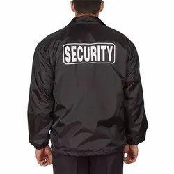 Black Men Security Jacket