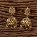 Engagement Girls Mehndi Plating Antique Jhumkis 23072
