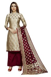 Party Wear Soft Silk Unstitched Suits
