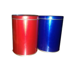 Red And Blue Tin Box