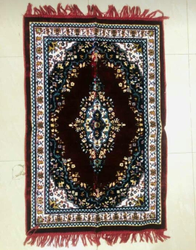 Red Satya Velvet Prayer Mat