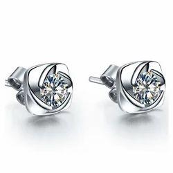 Diamond Earrings Screw Back  Diamond Earring