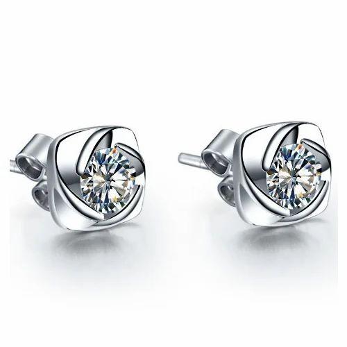 diamond earrings screw back diamond earring at rs 9000. Black Bedroom Furniture Sets. Home Design Ideas