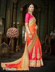 Designer Lehenga Saree With Blouse Piece