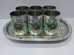 Meenakari Stainless Steel Glasses
