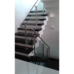 Stairs Residential Glass Railing, For Home