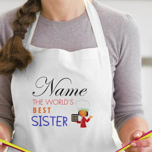 Personalize Worlds Best Sister Apron