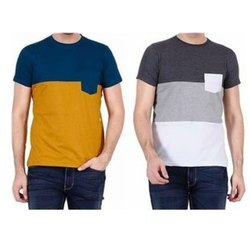 Half Sleeve Mens Casual Cotton Round Neck T-Shirts, Size: S-XXL