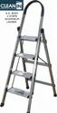 Clean-in 4 Steps S.S. Body, Aluminium Steps Folding Ladder