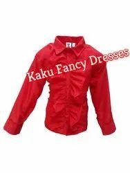 Kids Red Frill Shirt