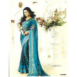 Royal Blue Casual and Party Wear Designer Festive Saree