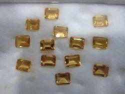 Yellow Bindal-Gems Citrine Octagon Faceted Cut Loose Gemstone