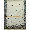 White Hand loom Saree
