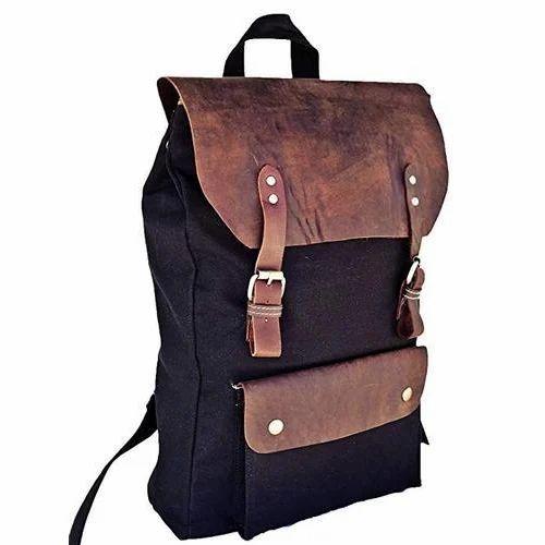 Blue Canvas Backpack Bag fd491e074a278