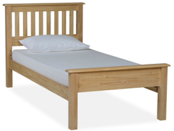 Light Brown Wooden Single  Bed