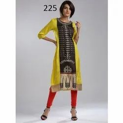 Designer Round Neck Digital Printed Kurti