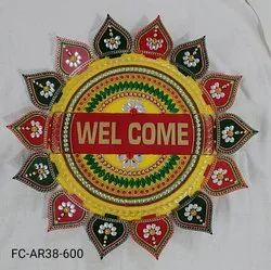 Acrylic Kundan Rangolis For Festival And Wedding