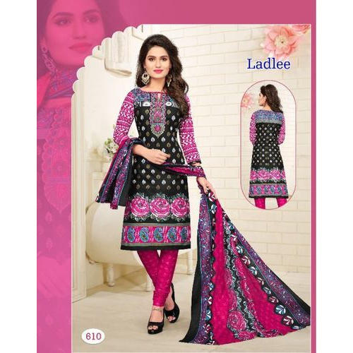 12be6ee410 Printed Multicolor Ladies Cotton Dress Material, Rs 320 /piece | ID ...