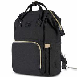Baby Stylish Diaper Waterproof Bag - Black