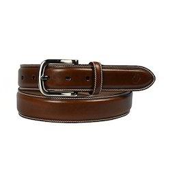 Italian Leather Belt with Stitching