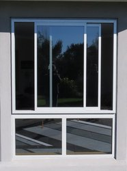 Aluminium Window 2 Track With Fix Partition