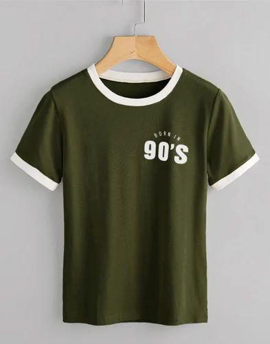491f9baf Cotton Born In 90's Ladies Round Neck T Shirt, Rs 150 /piece | ID ...