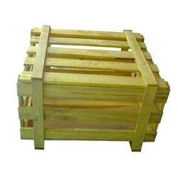 Green Wooden Crates