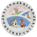 Multicolor Melamine Divided Kids Plate, Packaging Type: Box
