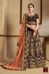 Bridal Wear Velvet Designer Lehenga