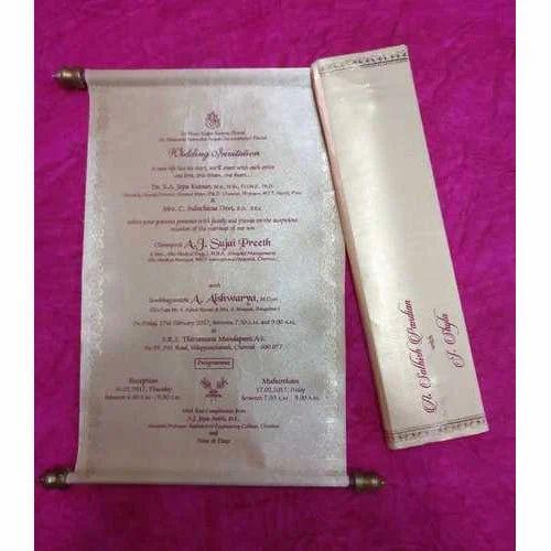 Scroll Wedding Card Scroll Invitation Venkateswara Papers