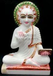 White Marble Dada Gurudev Jain Statue