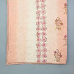 Peach Tie Dye Hand Block Print Quilt