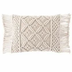 Accent Cotton Macrame Cushion Cover For Sofa Cushions or Pillow