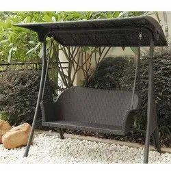 Rattan Double Seater Swing, For Garden