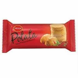Pran Potato Potata Spicy Flavoured Biscuit, Packaging Type: Foil Packet