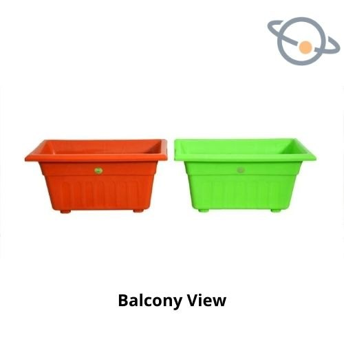 Plastic Flower Pot - Balcony View