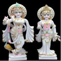 Fancy Radha Krishna Marble Statue