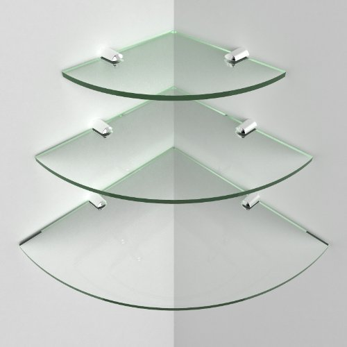 mondella baad shelf x double glass concerto layer