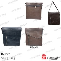 Giftmart Black & Brown Messenger Sling Bag, Model No.: B-057 & B-058