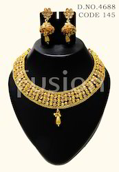 Traditional Lct Stone Necklace Set