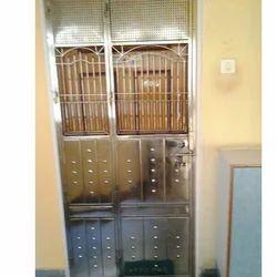 Silver Designer Stainless Steel Door