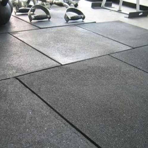 Grey Gym Flooring Tiles Thickness 1 5 Mm Rs 80 Square