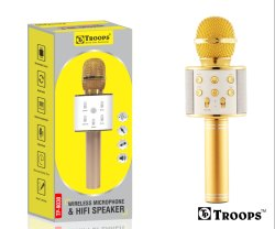 Golden & Black Troops Tp-9030 Wireless Microphone