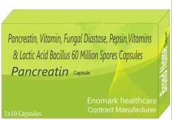 Pancreatin, Vitamin Fungal Diastase, Lactic Acid Bacillus 60 Million Sopres
