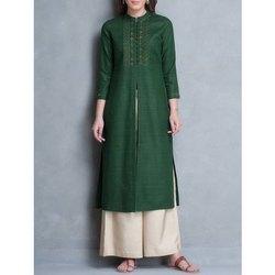 Ladies Front Cut Kurta With Palazzo Suit
