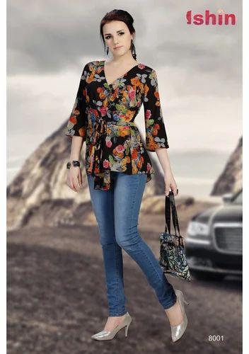 f6e2dcffa Heavy Georgette Multicolor Women Western Top at Rs 899  piece ...