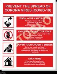 Corona Virus Safety Poster: Prevent The Spread Of Corona Virus