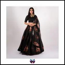 Latest Black Printed Lehenga Choli